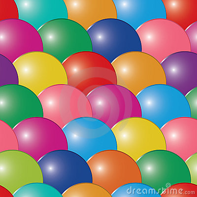 Abstract bubbles multicolor background. Seamless.