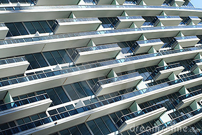 Abstract Building Balconies