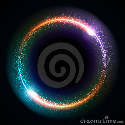 Free Abstract Burning Technology Circle Royalty Free Stock Photography - 17550837