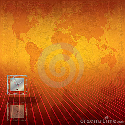 Abstract business background with clock