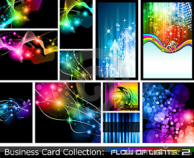 Abstract Business Card Collection:Flow of lights 2