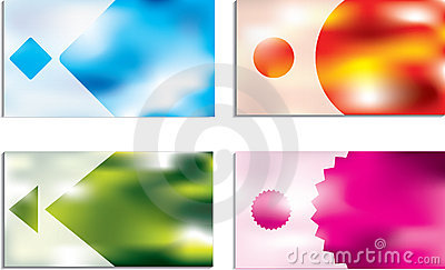 Abstract business cards with vivid colors