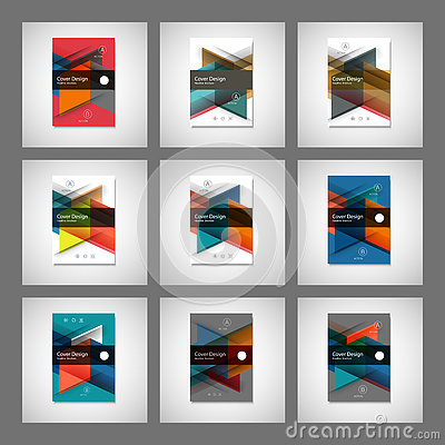 Abstract Business Flyer Design Vector Template In A4 Size Annual – Simple Annual Report Template