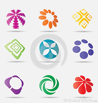 Abstract business icon collection