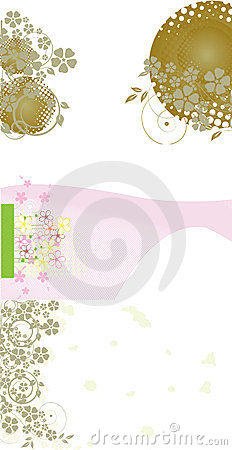 Abstract business visit card