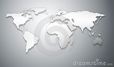 Abstract business world map relief