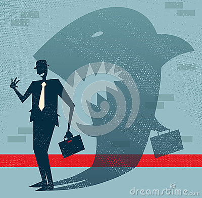 Abstract Businessman is a Shark in Disguise.