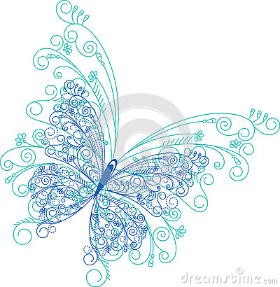 Free Abstract Butterfly Floral Background Royalty Free Stock Photography - 36681377