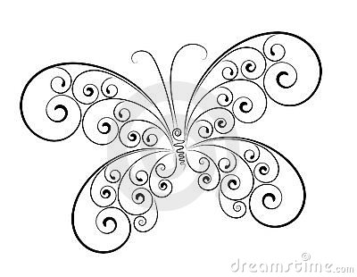 Abstract butterfly Isolated on white color