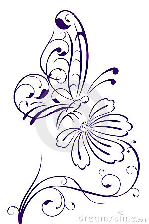Free Abstract Butterfly On Flower Royalty Free Stock Photography - 15193987