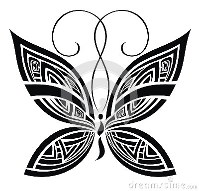 Abstract butterfly. Vector for your design