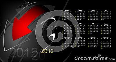 Abstract calendar 2012