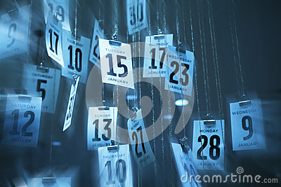 Abstract Calendar Time Background