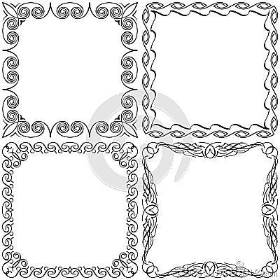 Calligraphic frames set