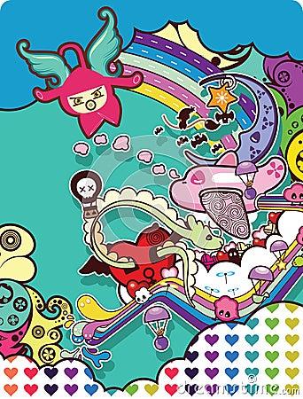Abstract cartoon E