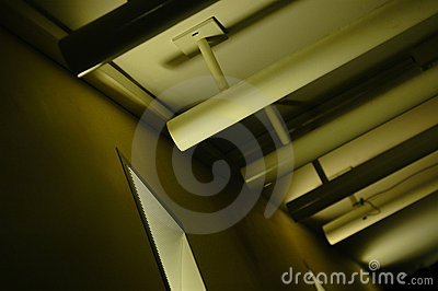 Abstract ceiling lighting