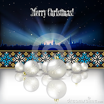 Abstract celebration background with Christmas dec
