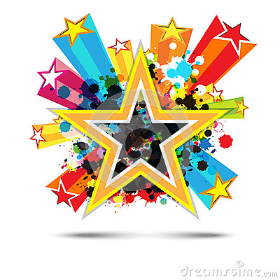 Abstract celebration star background