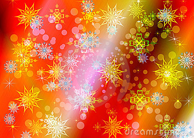 Abstract celebratory winter illustration
