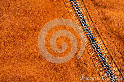 Abstract chamois background with seam and zipper