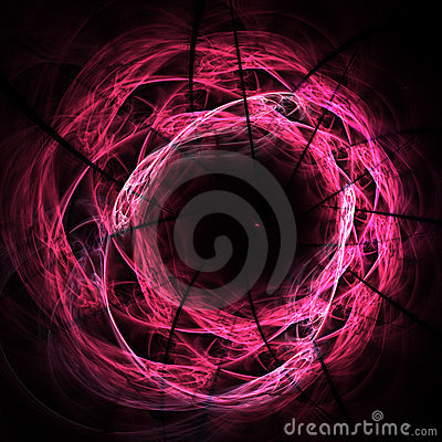Abstract chaos spiral curves core pattern