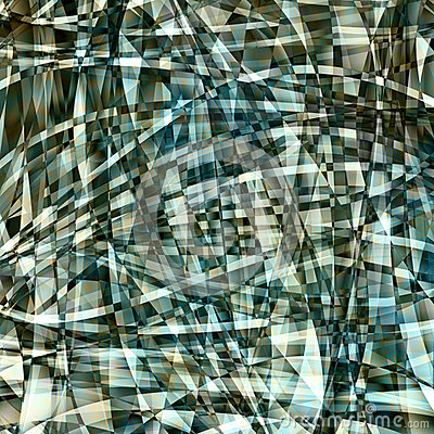 Abstract chaotic pattern with colorful curved lines