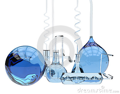 Abstract chemical glassware
