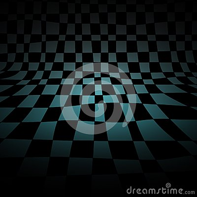 Abstract chess room
