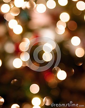 Abstract Chirstmas lights