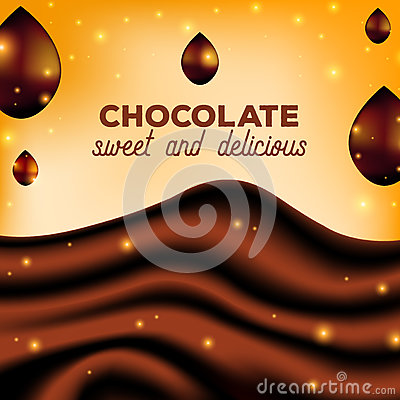 Free Abstract Chocolate Background With Drops, Brown Silk, Vector Illustration Stock Photos - 92572553