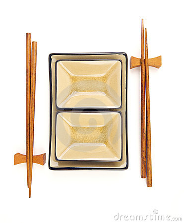 Free Abstract Chopsticks And Bowls Stock Photo - 6007020
