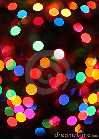 Abstract christamas lights