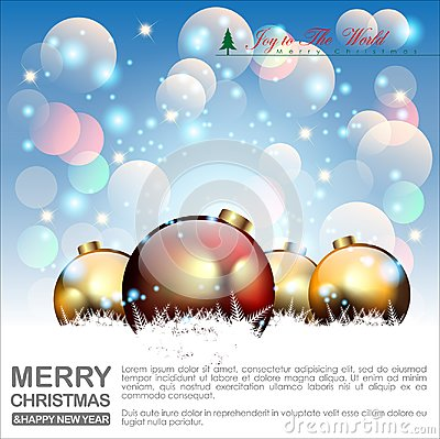 Free Abstract Christmas Background. Christmas Balls And Concept. Vector And Illustration, EPS 10. Royalty Free Stock Photo - 103857445