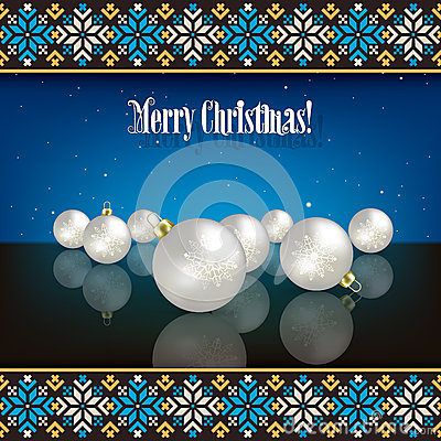 Abstract Christmas background with decorations and