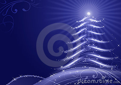 Abstract christmas background with snow flakes
