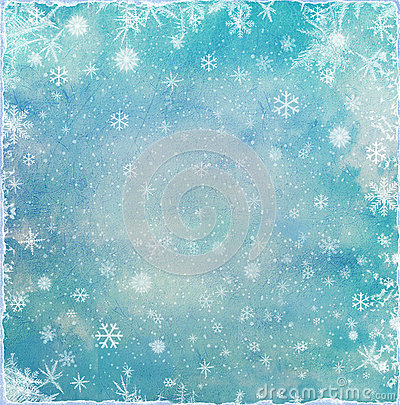 Free Abstract Christmas Background With Snowflakes Royalty Free Stock Photo - 27410735