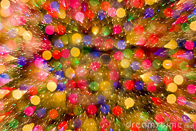 Abstract Christmas bokeh lights color background