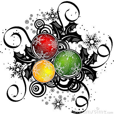 Abstract christmas design, vector