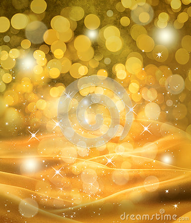 Abstract Christmas Gold Satin Background