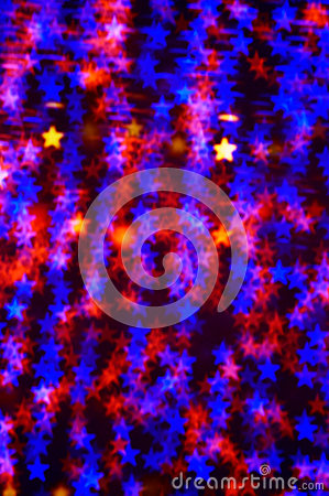 Abstract Christmas lights stars background