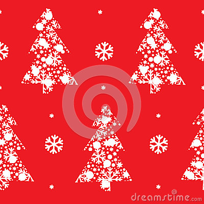 Abstract  Christmas pattern with christmas t