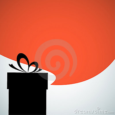Abstract christmas present silhouette