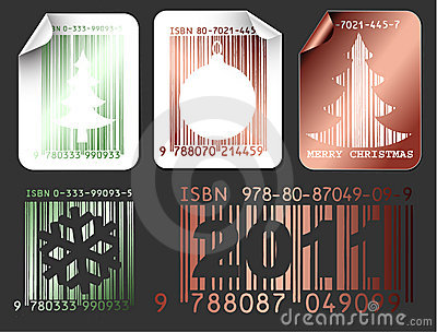 Abstract Christmas shopping labels