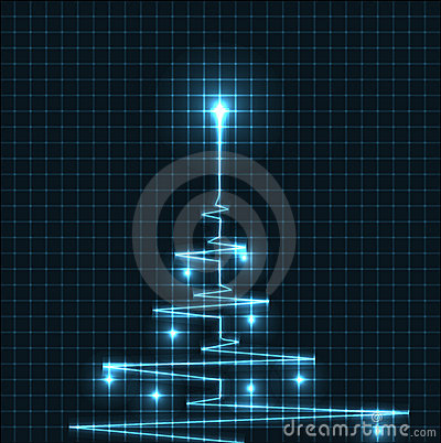 Free Abstract Christmas Tree Royalty Free Stock Image - 20715226