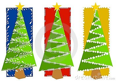 Abstract Christmas Tree Backgrounds