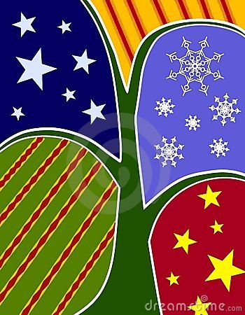 Abstract Christmas Tree Collage Card