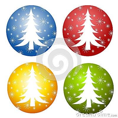 Abstract Christmas Tree Icons