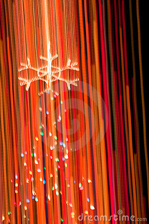 Abstract of Christmas Tree and Lights
