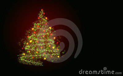 Abstract christmass tree