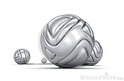 Abstract chrome balls